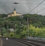 Tarde chuvosa na cidade de Usti nad Labem Imagens de Stock