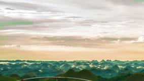 Tarde colorida en las colinas del chocolate imagenes de archivo