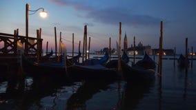 Tarde da noite na baía de San Marco Veneza video estoque