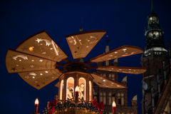 Tarde de la Navidad de Wroclaw Fotos de archivo libres de regalías