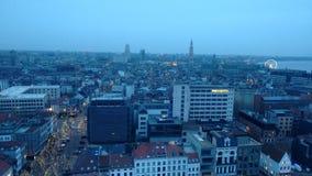 Tarde de la Navidad en Amberes, Bélgica Fotos de archivo libres de regalías