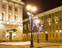 Tarde de la Navidad en St Petersburg Imágenes de archivo libres de regalías
