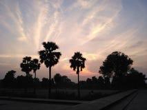 Tarde de la oscuridad en Sikandra Agra Fotografía de archivo libre de regalías