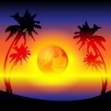 Tarde de la puesta del sol Fotografía de archivo libre de regalías
