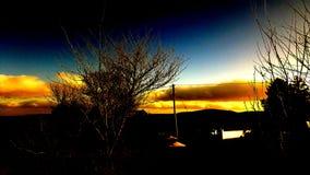 Tarde de la puesta del sol Fotos de archivo libres de regalías