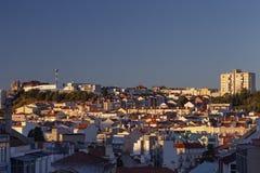 Tarde de Lisboa foto de stock