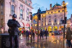 Tarde de Londres del circo de Piccadilly Imagenes de archivo