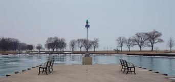 Tarde de niebla en el puerto de Belmont Imagen de archivo