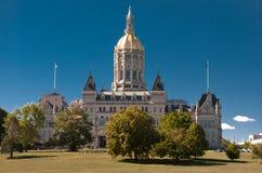 Tarde del capitolio de Hartford Connecticut fotos de archivo libres de regalías