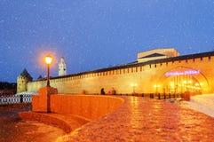 Tarde del invierno en el Novgorod el Kremlin Imagenes de archivo