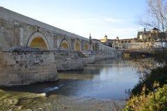 Tarde del la del por del romano de Puente Fotografía de archivo