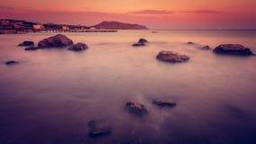 Tarde del mar Fotos de archivo