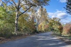 Tarde del otoño en Central Park Imágenes de archivo libres de regalías