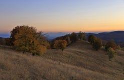 Tarde del otoño en la colina imagen de archivo libre de regalías