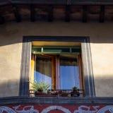 Tarde del paisaje de la calle de Siena Fotos de archivo libres de regalías