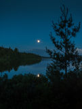 Tarde del verano en el lago Imagen de archivo