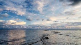 Tarde del verano en el mar Báltico Fotografía de archivo