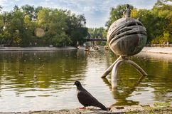 Tarde del verano en Lazar Globa Park Foto de archivo