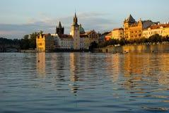 Tarde del verano en Vltava Imagenes de archivo