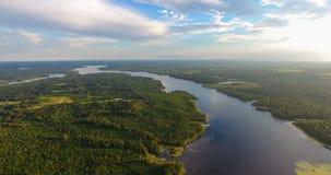 Tarde del verano sobre el lago grande creek en Semmes, Alabama imagen de archivo