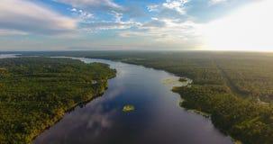 Tarde del verano sobre el lago grande creek en Semmes, Alabama foto de archivo libre de regalías