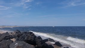 Tarde do verão na praia Fotos de Stock Royalty Free