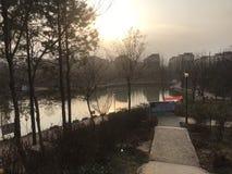 Tarde em Xicheng Forest Park, Wuyang fotos de stock royalty free