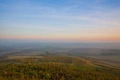 Tarde en altiplanicies bohemias centrales, República Checa fotografía de archivo