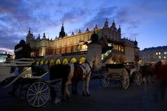 Tarde en Cracovia Fotografía de archivo