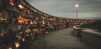 Tarde en el cementerio Imagen de archivo