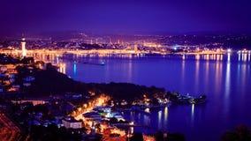 Tarde en el golfo de Trieste fotografía de archivo