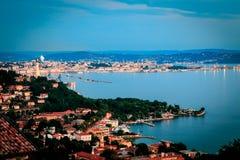 Tarde en el golfo de Trieste foto de archivo libre de regalías