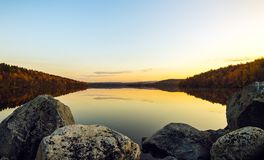Tarde en el lago Foto de archivo libre de regalías