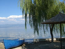 Tarde en el lago Fotos de archivo