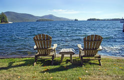 Tarde en el lago George New York State Fotos de archivo