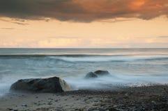 Tarde en el mar Báltico Foto de archivo libre de regalías