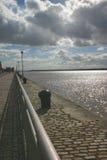 Tarde en el Mersey Foto de archivo