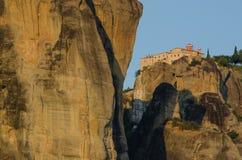 Tarde en el monasterio de Meteora Foto de archivo