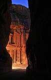 Tarde en el Petra Imagen de archivo libre de regalías