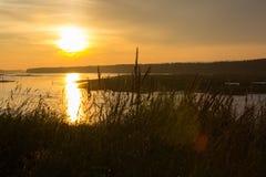 Tarde en el río Imagen de archivo libre de regalías