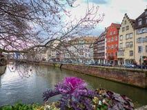 Tarde en el río en Estrasburgo imágenes de archivo libres de regalías