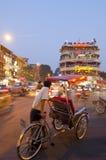 Tarde en el viejo cuarto de Hanoi fotografía de archivo