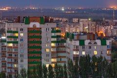 Tarde en la ciudad de Stalingrad La ciudad del héroe Foto de archivo libre de regalías