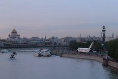 Tarde en la Moscú, año 2014 Imágenes de archivo libres de regalías