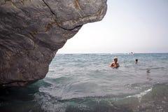 Tarde en la playa Imagenes de archivo