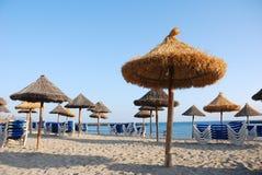 Tarde en la playa Imagen de archivo libre de regalías