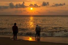 Tarde en la playa Fotos de archivo libres de regalías