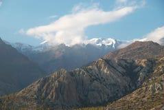 Tarde en las montañas. Nepal Imagen de archivo libre de regalías