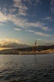 Tarde en los muelles de Trieste foto de archivo libre de regalías