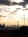 Tarde en París Imágenes de archivo libres de regalías